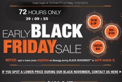Newegg Early Black Friday Sale + Free Shipping
