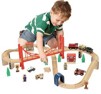 Walmart: 50-pc. Wooden Train Set and Table $45