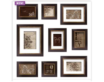 9 Piece Espresso Frame Set