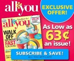 All You Magazine Subscription As Low As 63Ã' ¢/Issue (Exp. 2/13)