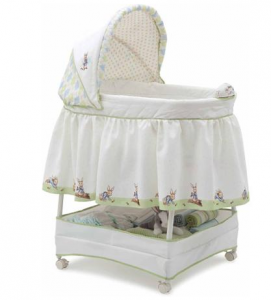 Lovely Looking for a great gift for a mom to be or the perfect bed for your own baby Walmart has this sweet Delta Children us Products Peter Rabbit gliding