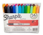 Amazon: 24-Pack of Fine Tip Sharpies $10 (Assorted Colors)