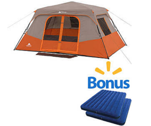 Get Ready For Your Next Camping Adventure With This Tent And Airbed Bundle  From Walmart.com. Get The Ozark Trail 8 Person Instant Cabin Tent And Two  Intex ...