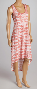 70f9e732224 Zulily Women s Summer Dresses Top Picks. Capture. This Peach   White Stripe  Hi-Low Dress by Metro 22 is  5.99 (originally  38 – that s 84% off).