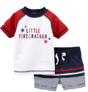 d05956899 This Carter's Baby Boys' 2 Piece 4th of July Swim Set starts at $21.99.