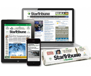 Star Tribune Subscription Deal: 13 Weeks Sunday Delivery + Digital Access for 2Ã' ¢ After $20 Gift Card
