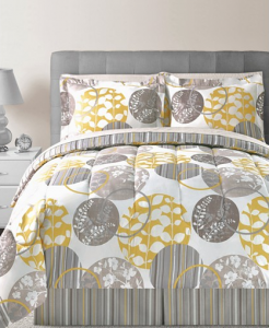 Elegant This Gray Yellow Holden Piece Bedding Ensemble is regularly u that us off