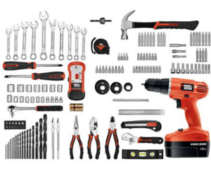 Walmart: Black & Decker 18-volt Cordless Drill Kit with 133-Pieces $50 + Free Shipping ($29.88 Off)