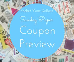 Sunday Paper Coupon Preview