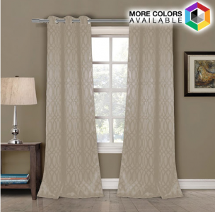 these blackout grommet tayla curtain panels in taupe chocolate or rain are regularly 150 u2013 thatu0027s 86 off