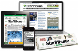 26 Week Sunday Star Tribune Subscription + Digital Access for $10.99 After Gift Card (42Ã' ¢/week)