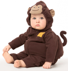 this my little monkey halloween costume is available in sizes 12 months 18 months or 24 months