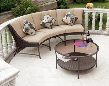 Marvelous  perfect time to buy patio furniture and outdoor items as items tend to be heavily discounted Case in point this Savannah Metal and Woven Deep Seating