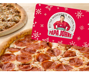 Groupon: $25 Papa John's Gift Card + 2 Pizzas for $25