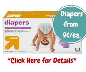 Target.com up & up Diaper Deal: Diapers from 9Ã' ¢ Each After $20 Gift Card + Free Shipping (Exp. 12/12)