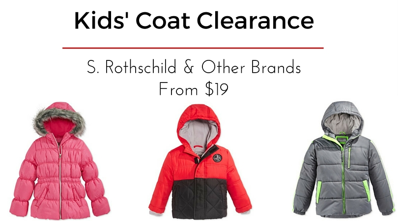 cf830b8a4 Kids Winter Coat Clearance  S. Rothschild Coats from  19