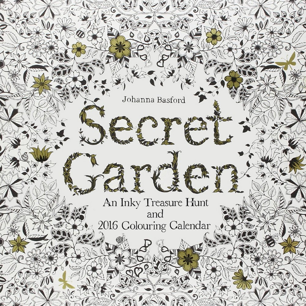 Color Your Calendar Secret Garden Coloring 4