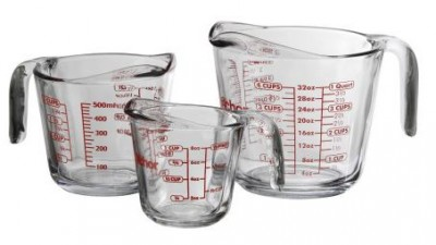 Anchor Hocking 3 Piece Glass Measuring Cup Set