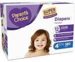Get a Huge Box of Highly Rated Parent's Choice Diapers for $28