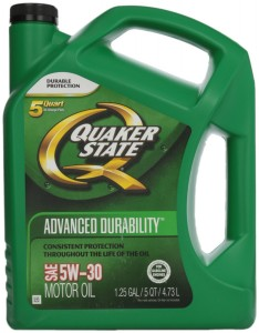 Quaker State Motor Oil 5-qt. Bottle for $9 After Rebate + Free Shipping