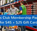 Sam's Club Plus Membership + $20 Gift Card + Food Freebies for $45