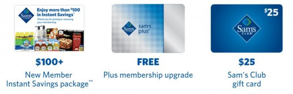 Sam's Club Membership + $25 Gift Card + Free Food for $45