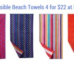 Reversible Beach Towels 4 for $22 + Free Store Pickup at Kohl's