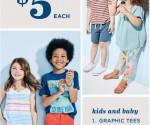 Old Navy: Kids and Baby Tees, Tanks, Polos, Shorts and Leggings for $5 Each