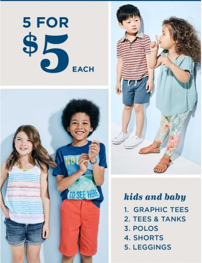 old navy 5 for $5