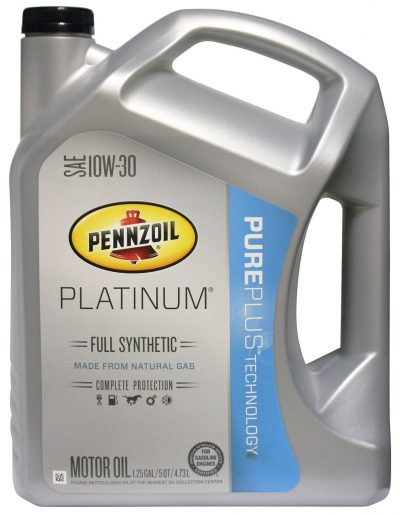 Pennzoil 550038321 Platinum SAE 10W-30 Full Synthetic Motor Oil API GF-5 - 5 Quart Jug