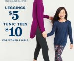 Old Navy: Women's and Girls' Leggings for $5, Tunic Tees for $10