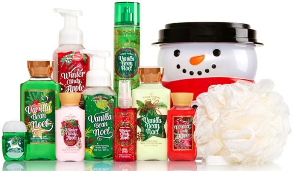 bath & body works holiday traditions bucket (10 items) for $25