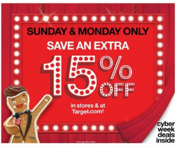 Target.com: 15% Off Sitewide + Free Shipping