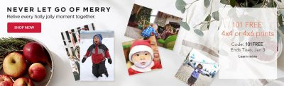 Shutterfly: 101 Free Prints (You Pay Shipping = $0.06/Print)