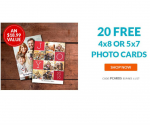 20 Custom Holiday Cards for $5 Shipped ($0.25 Each) from York Photo