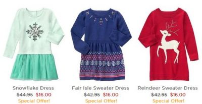 Gymboree: Super Cute Sweater Dresses for $16 + Free Shipping (+ 50-80% Off Sitewide)