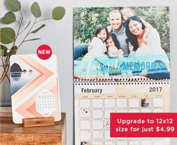 Get a Free Easel Calendar or 12-Month Wall Calendar from Shutterfly (Pay $7-$8 Shipping)