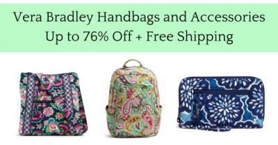 Vera Bradley Crossbody, Wristlets & More Up to 76% Off + Free Shipping
