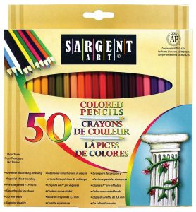 Amazon: Sargent Colored Pencils 50-Pack for $6 (Add-on item)