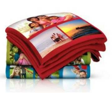 Personalized Photo Collage Fleece Blanket $15 + Free Shipping (Reg. $60)