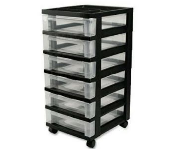 amazon 6 drawer storage cart with wheels 24