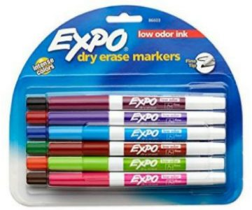 Expo Dry Erase Fine Point Markers 12-Pack for $5 + Free Shipping
