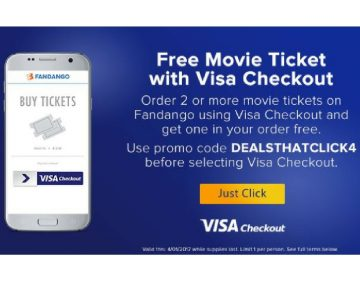 Fandango: BOGO Movie Tickets with Visa Checkout