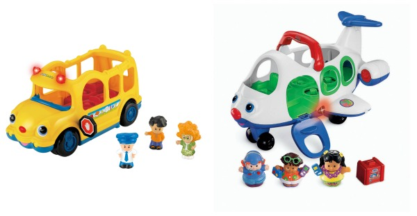 Fisher-Price Little People School Bus or Airplane for $10