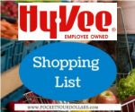 Hy-Vee Shopping List 9/12/2018 – 9/25/2018