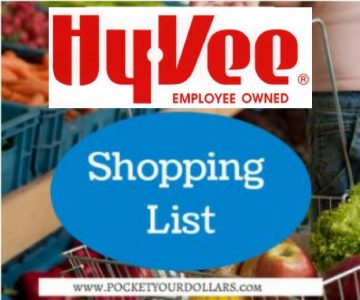 Hy-Vee Shopping List 10/24/2018 – 11/6/2018
