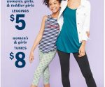 Old Navy: Women's and Girls' Leggings for $5, Tunics for $8 – Today Only