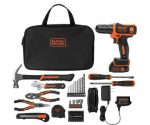 Black+Decker 12-Volt Drill with 64-Piece Project Kit $49 + Free Shipping