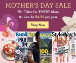 DiscountMags Mother's Day Sale: 75+ Titles from $5/Year (Clean Eating, InStyle, This Old House + More)