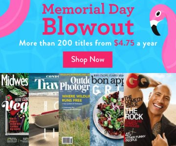 DiscountMags Memorial Day Magazine Sale – Subscriptions from $4.75/Year
